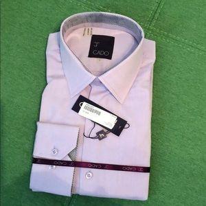 NWT J CADO Lilac Men's Large Dress Shirt